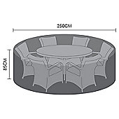 Nova Large 6 Seat Round Dining Set Outdoor Garden Furniture Cover