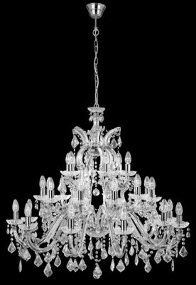 Designer Crystal Chandelier Chrome Finish Ceiling Lighting Decor