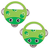Bigjigs Toys Wooden Hand Shakers (Pack of 2 - Frog) - Musical Toys