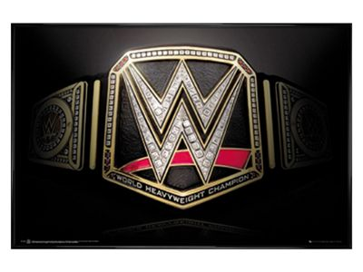 WWE Gloss Black Framed Title Belt Poster