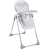 Badabulle Easy Highchair (White/Grey)