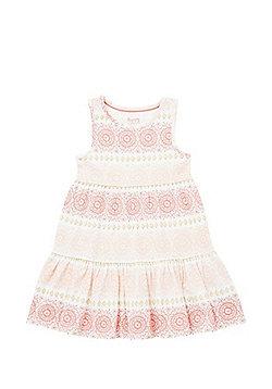 F&F Henna Print Tiered Jersey Dress - White