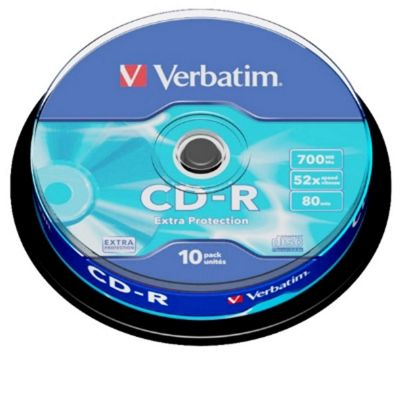 Verbatim 700 MB CD-R80 52x Spindle 10 Pack