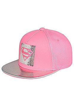 DC Comics Supergirl Sequin Snapback Cap - Pink