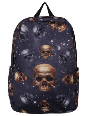 Banned Galaxy Skulls Black Backpack