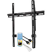 Hama All in One Home Entertainment Set - Flat TV Wall Bracket and Free Accessories