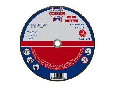 Faithfull Cut Off Disc for Metal 300 x 3.5 x 20mm