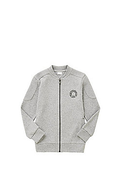 F&F Zip-Through Jersey Bomber Jacket - Grey