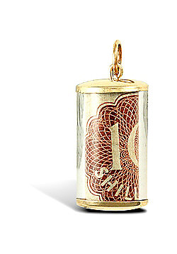 Jewelco London 9ct Yellow Gold ten shilling note Pendant with plastic casing