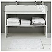 Fox & Ivy Egyptian Cotton White Bath Mat