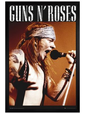 Black Wooden Framed Guns N Roses Axl Poster 61 x 91.5cm