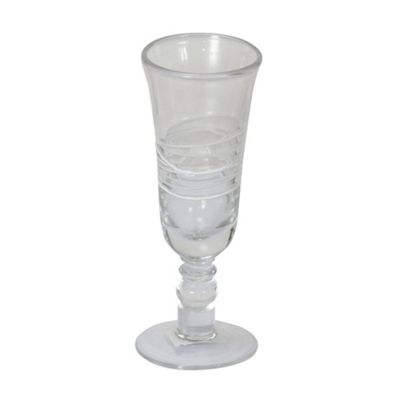 Set Of 6 White SPIRal Champagne Glasses