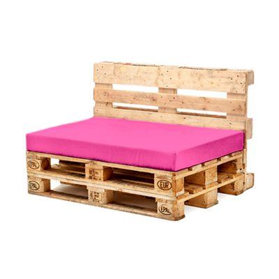 Pink Seat Fibre Printed Pallet Cushions Hollowfibre Garden Patio