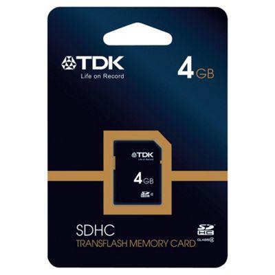 TDK SDHC Memory Card 4GB