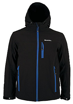 Bern Breathable Inner Microfleece Adjustable Hood Cuffs Hem Softshell Jacket - Black