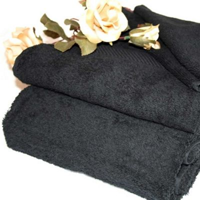 Homescapes Turkish Cotton Black Jumbo Towel