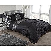 Cascade Home Waves Duvet Cover Set - Black