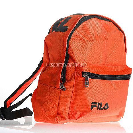 Fila Marshall Mini Kids backpack   School bag   Ruck Sack 30 x 25 x 12cm  Orange Catalogue Number  318-8311