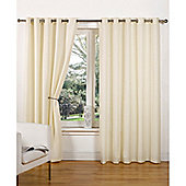Hamilton McBride Canvas Unlined Ring Top Curtains - Natural