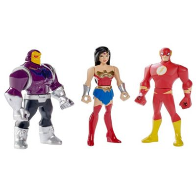DC Comics Justice League Action Figures Wonder Woman, The Flash and Mongul