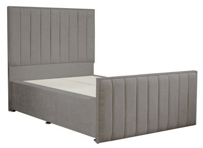 Luxan Hampstead Light Colours Bed Frame - Silver - Single 3ft