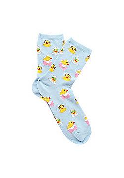 F&F Pamper Duck Ankle Socks - Multi