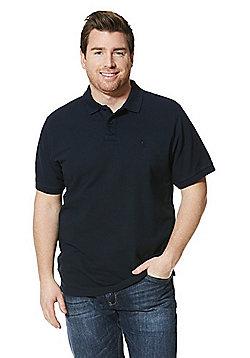 Jacamo Longer Length Polo Shirt - Navy