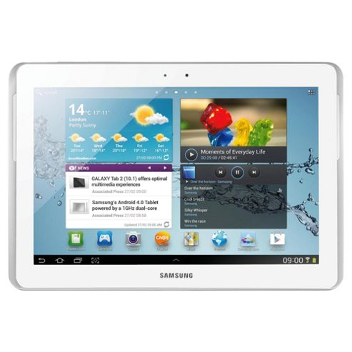 Samsung Galaxy Tab 2 (10.1 inch) Tablet PC Dual Core 1.0GHz 16GB 3G WLAN BT Camera Android 4.0 (White)