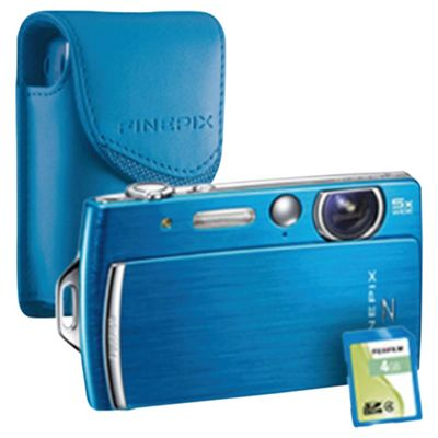 Fujifilm FinePix Z110 2.7 LCD Blue Digital Camera Bundle with matching coloured case and 4GB memory card