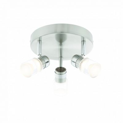 Brushed Chrome Effect & Chrome Effect Plate 3lt Round 4W