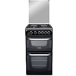 Hotpoint Cannon by Hotpoint Gas Cooker with Gas Grill and Gas Hob, CH50GCIK.0 - Black