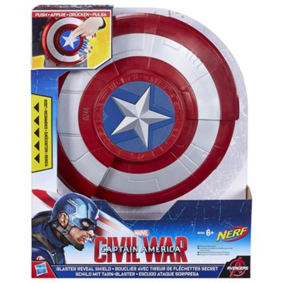 Buy Marvel Captain America Civil War Blaster Reveal Shield from our