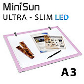 A3 LED Light Pad & Pink Border