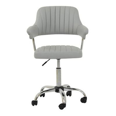 Yale Grey Small Home Office Chair
