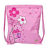 Children's PE Bag - Pink Owl, Kids Swim Bag, Children's Bag