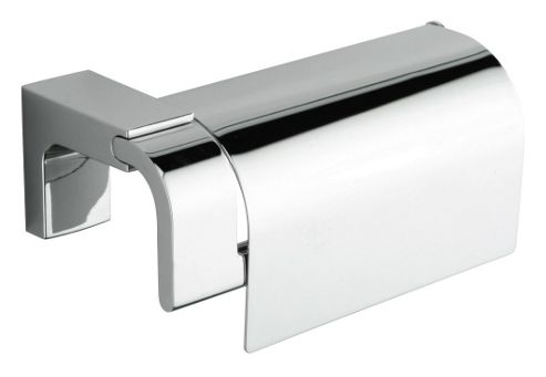 Sonia Eletech Toilet Roll Holder with Flap in Chrome