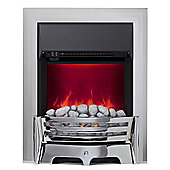 Mayfair 2kW Inset Electric Fire - Chrome with Pebble Bed