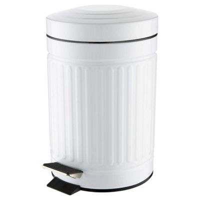 White Bathroom Bin buy white 3l bathroom bin from our bathroom bins range - tesco