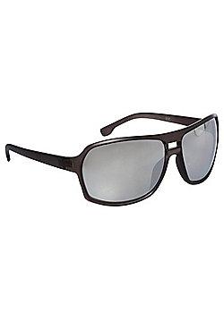 F&F Aviator Mirrored Lens Sunglasses One size Black