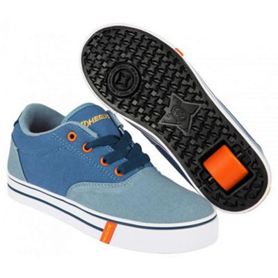 Launch Denim/Light Blue/Orange Kids Heely Shoe UK 3