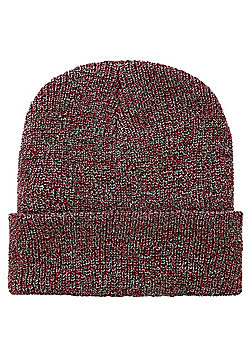 Antique Heritage Burgundy Beanie - White