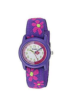Timex Kidz T89022 Flowers Time Teacher Watch│Flower Strap│Analogue Display│NEW