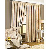 Belmont Ready Made Lined Curtains Beige 90x90