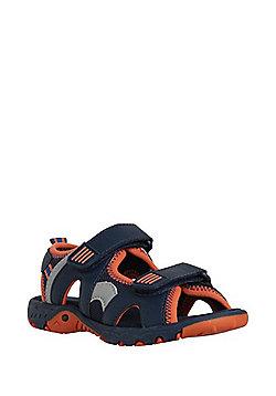 F&F Riptape Trekker Sandals - Navy/Orange