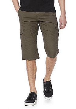 F&F 3/4 Length Cargo Shorts - Khaki