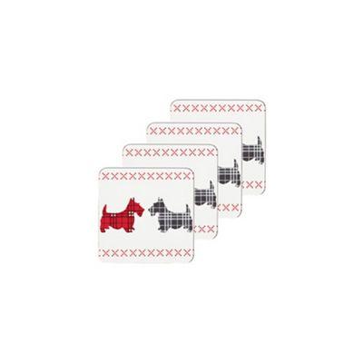 KitchenCraft Scottie Dog Corked Back Drinks Coasters, Set of 4 KCDCSCOTTPK4