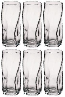 Bormioli Rocco Sorgente Tumbler Glasses - 460ml (16oz) - Set of 6