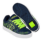 Heelys Motion Plus Navy/Bright Yellow/Electricity Kids Heely Shoe - Blue