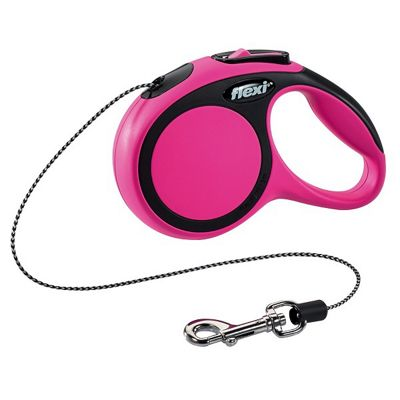 Flexi Comfort Cord Retractable Lead 3m - Extra Small - Pink
