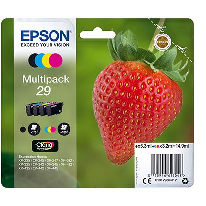 Buy an Epson XP 442 Printer and save £5 on Epson Strawberry Multi-pack Ink